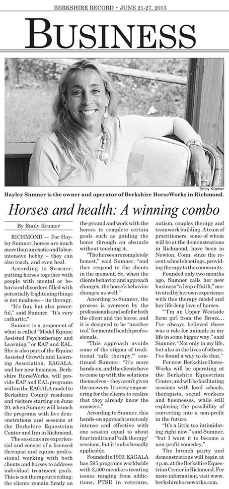 Berkshire HorseWorks in the News