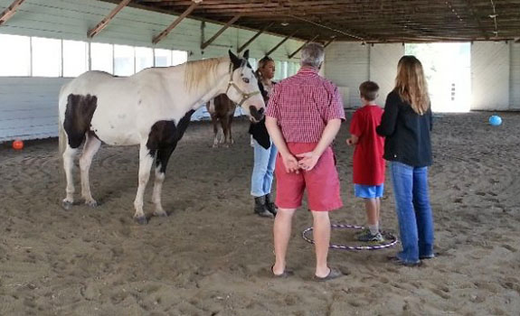 Equine Assisted Therapy works well for children